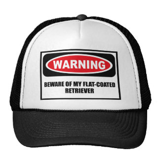 Warning BEWARE OF MY FLAT-COATED RETRIEVER Hat