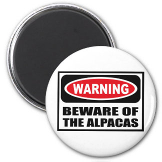 Warning BEWARE OF THE ALPACAS Magnet