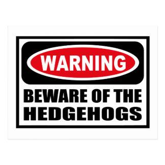 Warning BEWARE OF THE HEDGEHOGS Postcard