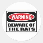 Warning BEWARE OF THE RATS Sticker
