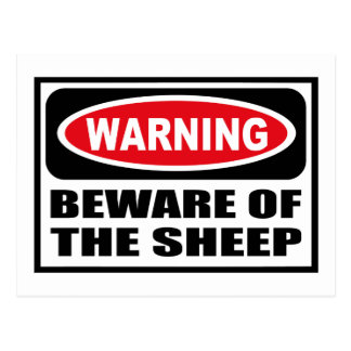 Warning BEWARE OF THE SHEEP Postcard