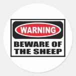 Warning BEWARE OF THE SHEEP Sticker