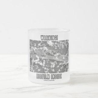 Warning! Biofilm Inside (Microorganisms) Frosted Glass Coffee Mug
