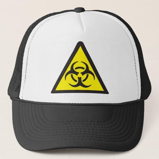 Warning Biohazard Symbol Cap