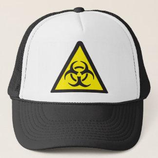 Warning Biohazard Symbol Trucker Hat