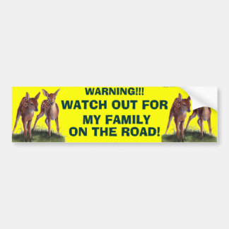 WARNING!! Bumper Sticker