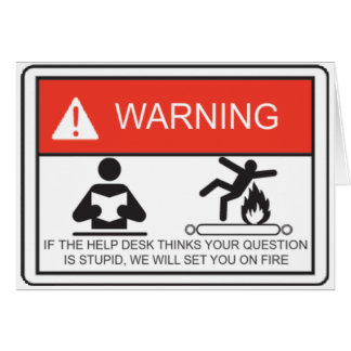 WARNING CARD