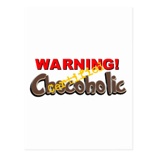 Warning Certified Chocoholic Postcard