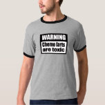 WARNING Chemo farts are toxic Ringer T-Shirt