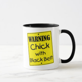 Warning Chick with Black Belt Mug