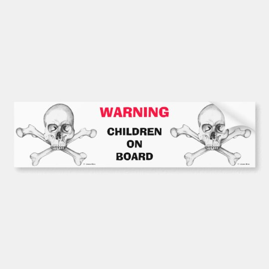 WARNING: Children on Board Bumper Sticker