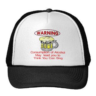 Warning Consumption Of Alcohol Hats