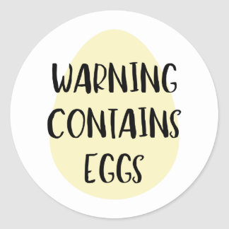 Warning Contains Eggs Allergen Baking Label Egg