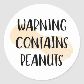 Warning Contains Peanuts Allergen Label Peanut