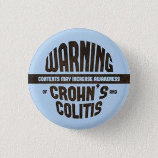 Warning! Contents May Increase Awareness - Blue 3 Cm Round Badge