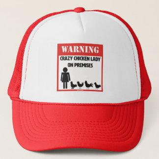 Warning: Crazy Chicken Lady Trucker Hat