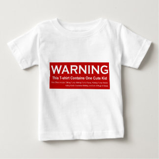 Warning Cute Kid Baby T-Shirt
