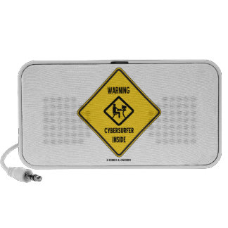 Warning Cybersurfer Inside (Sign) Mini Speakers