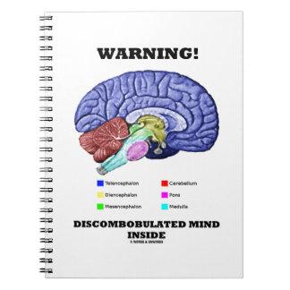 Warning! Discombobulated Mind Inside (Brain Humor) Spiral Note Book