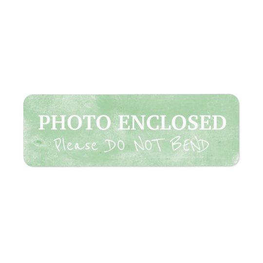 Warning Do Not Bend Painted Chalk Artwork Green Return Address Label