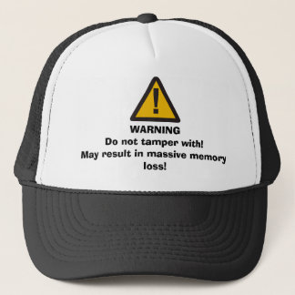 WARNING Do not tamper with hat