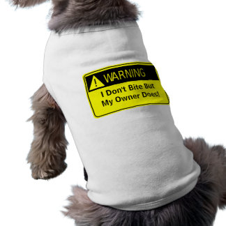 Warning! Sleeveless Dog Shirt
