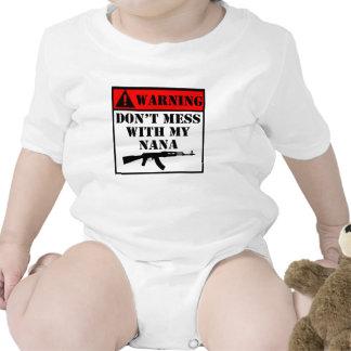 Warning Don't Mess With My Nana Baby Creeper