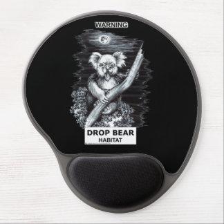 Warning: Drop Bear Habitat Gel Mouse Pad