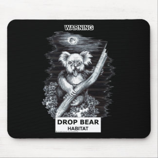 Warning: Drop Bear Habitat Mouse Mat