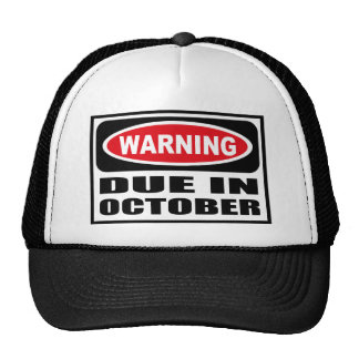 Warning DUE IN OCTOBER Hat