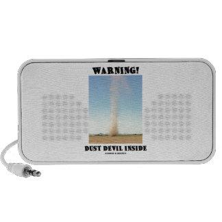 Warning Dust Devil Inside Meteorology Travelling Speakers