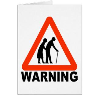 Warning - Elderly Crossing Card