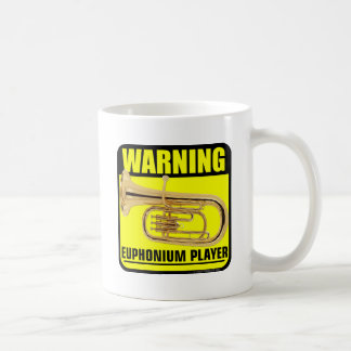 Warning! Euphonium Player Basic White Mug