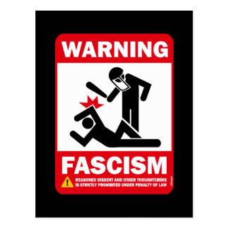 Warning Fascism Post Card