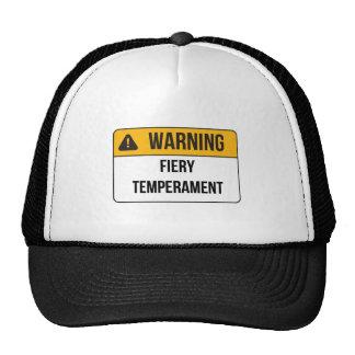 Warning - Fiery Temperament Cap