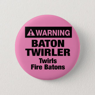 Warning Fire Batons 6 Cm Round Badge