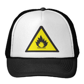 Warning Flammable Sign Cap