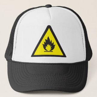 Warning Flammable Sign Trucker Hat