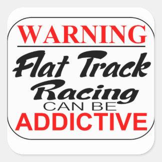 WARNING Flattrack Racing can be Addictive Stickers