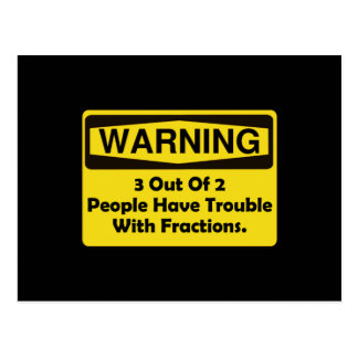 Warning Fraction Postcard