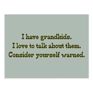 Warning from Grandparents Postcard