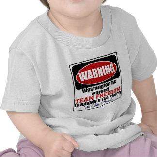 Warning Having a Tea Party T Shirt