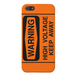 Warning high voltage case for the iPhone 5
