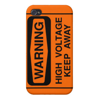 Warning high voltage iPhone 4/4S cases