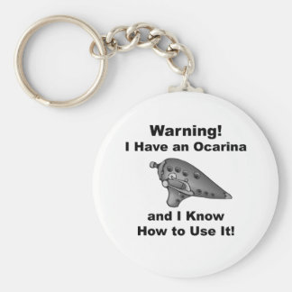 Warning! I Have an Ocarina Basic Round Button Key Ring