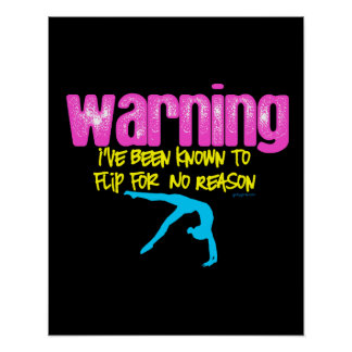 Warning: I Have Been Known to Flip For No Reason Poster