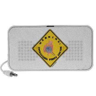 Warning Intestinal Party Inside Guts Magnifying Mini Speakers