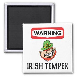 Warning Irish Temper Magnet