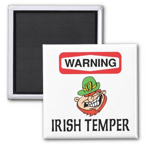Warning Irish Temper Fridge Magnet