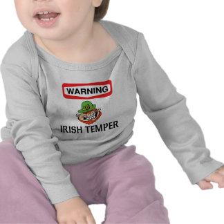 Warning Irish Temper T-shirts